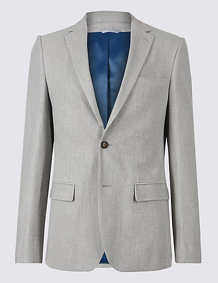 Slim Fit Textured Jacket