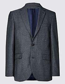Big & Tall Textured Tailored Fit Jacket