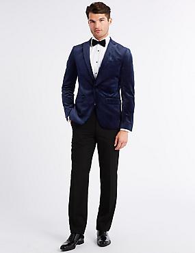 Velvet Navy Slim Fit Jacket