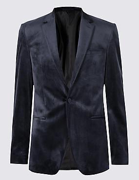 Navy Velvet Jacket
