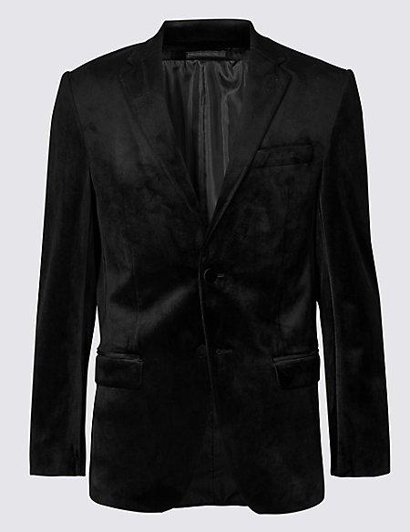 Velvet Black Regular Fit Jacket