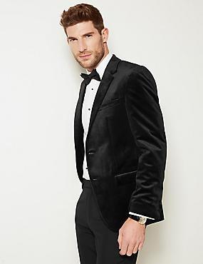 Velvet Black Tailored Fit Jacket