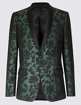 Slim Fit Floral Jacket