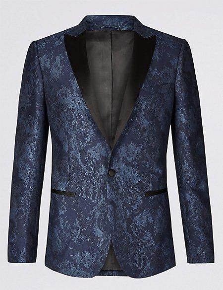 Slim Fit Patterned Jacket
