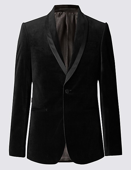 Tailored Fit Velvet Jacket