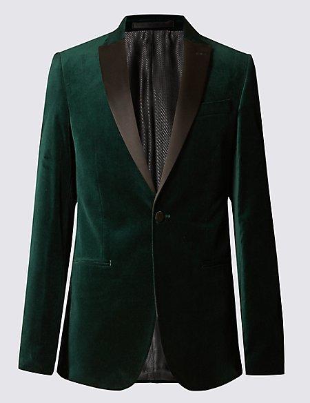 Tailored Fit Velvet Jacket