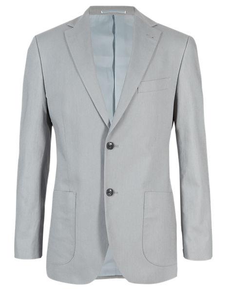 Linen Blend 2 Button Jacket
