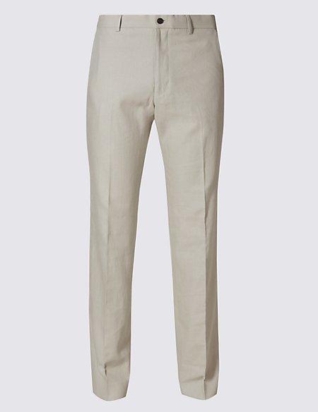 Linen Rich Regular Fit Trouser