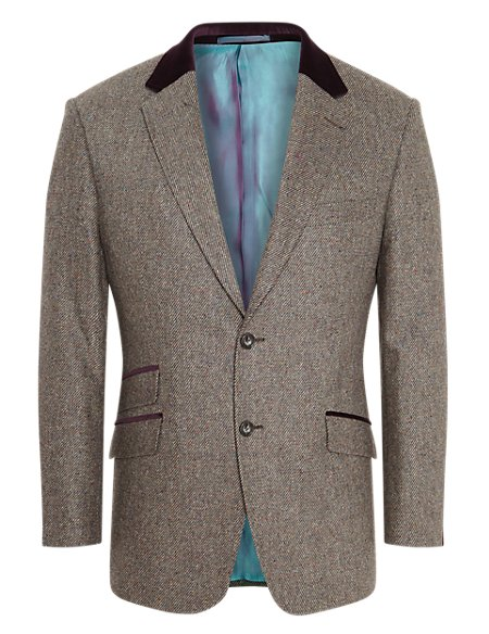 Luxury Pure New Wool 2 Button Twill Jacket