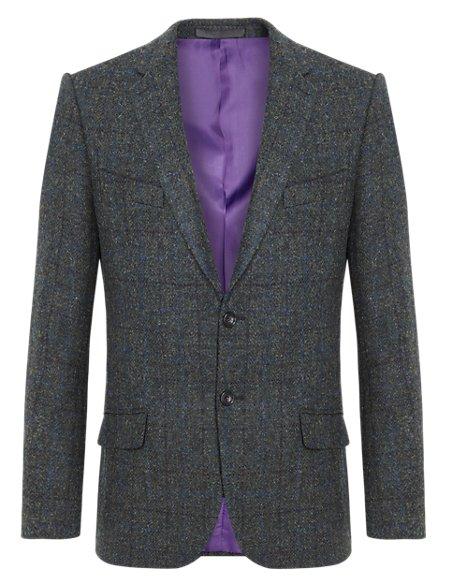 Pure New Wool Harris Tweed Check Jacket