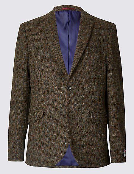 Pure Wool Harris Tweed Tailored Jacket