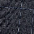 Navy Pure Linen Checked Regular Fit Jacket, NAVY, swatch
