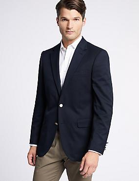 Navy Regular Fit Jacket