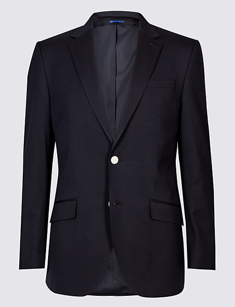 Big & Tall Wool Blend Regular Fit Jacket