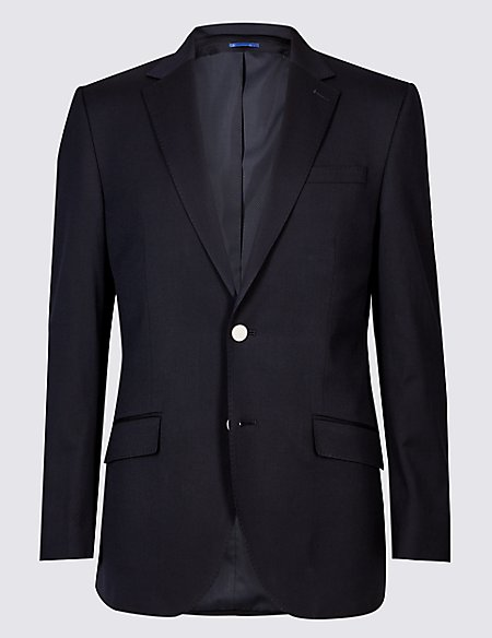 Big & Tall Wool Blend Textured Regular Fit Jacket