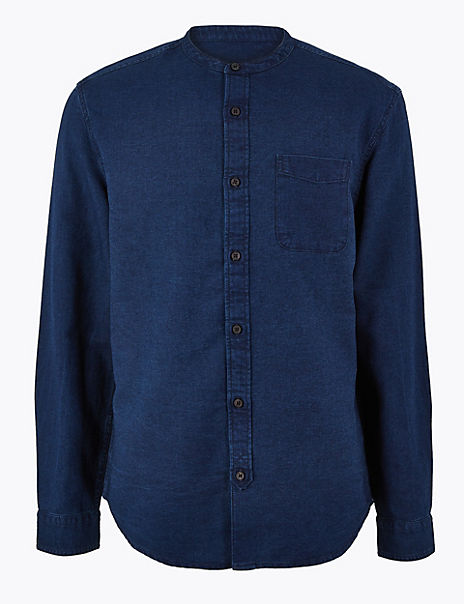 Pure Cotton Grandad Shirt