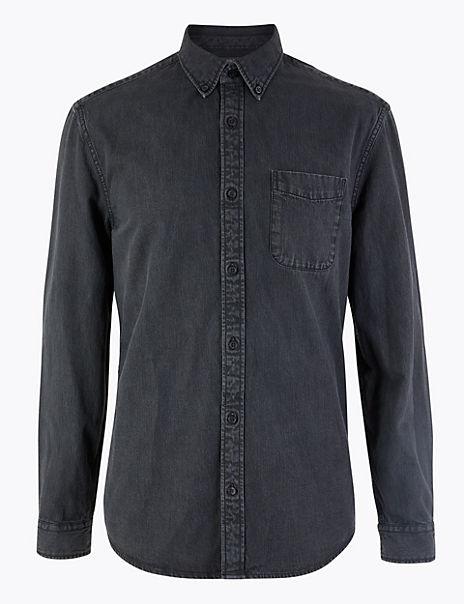 Pure Cotton Authentic Denim Shirt