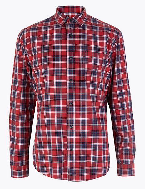 Pure Cotton Tartan Checked Shirt