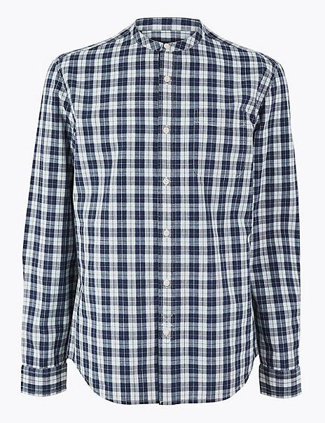 Pure Cotton Grandad Shirt