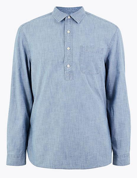 Cotton Chambray Denim Shirt