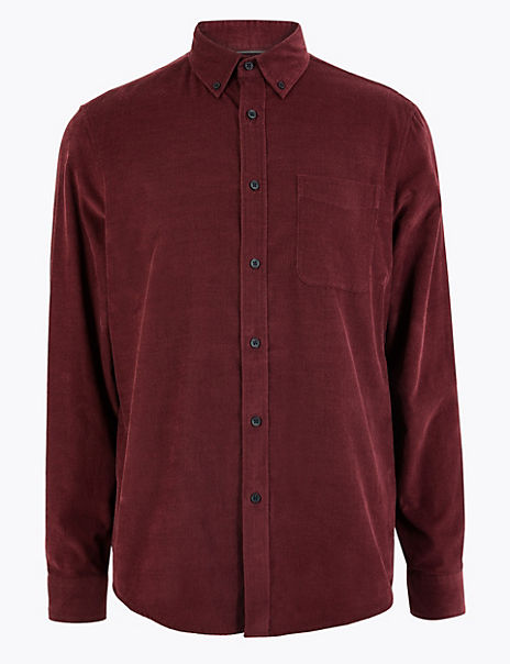 Pure Cotton Corduroy Shirt