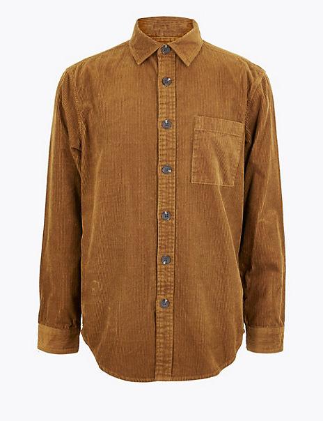 Pure Cotton Corduroy Overshirt