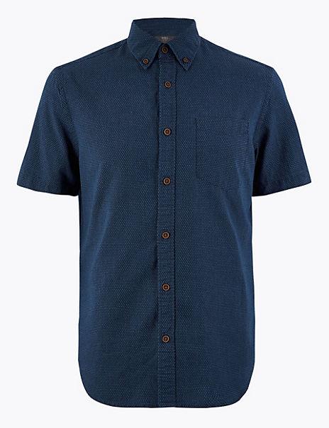 Cotton Dot Textured Shirt