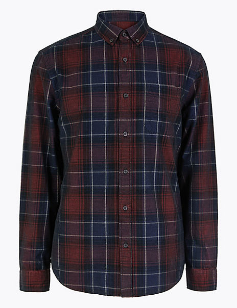 Pure Cotton Checked Cord Shirt