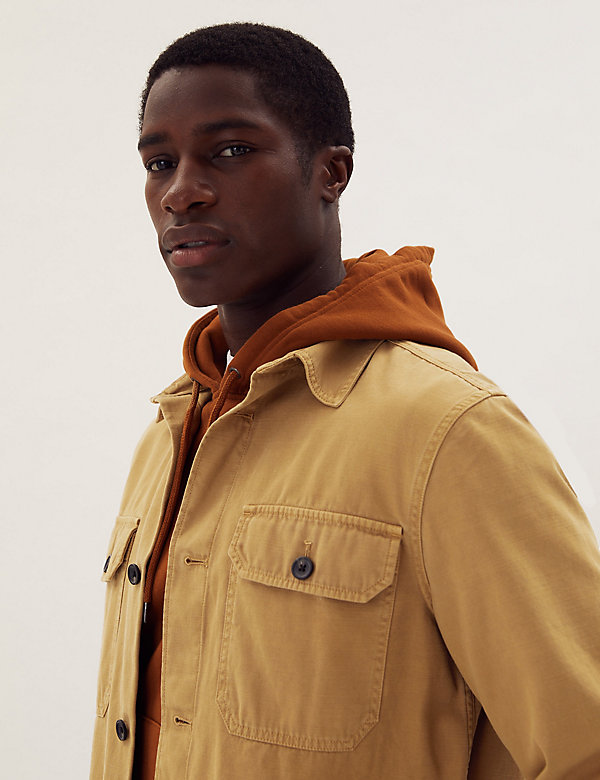 Pure Cotton Garment Dyed Overshirt