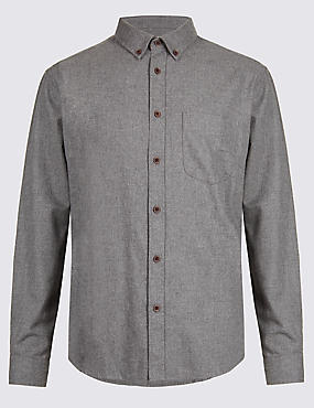 Brushed Cotton Plain Shirt