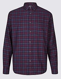 Brushed Cotton Checked Shirt