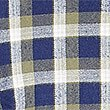Flannel and Brushed Cotton Checked Shirt, KHAKI MIX, swatch