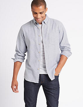 Flannel and Brushed Cotton Shirt