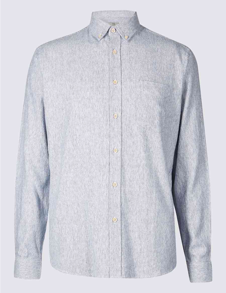 Brushed Cotton Shirt Ms Collection Ms