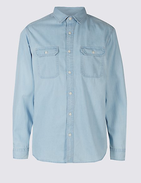 Denim Authentic Shirt with Pockets
