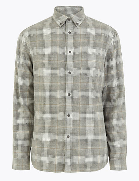 Brushed Cotton Check Flannel Shirt