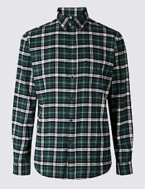 Flannel & Brushed Cotton Checked Shirt