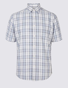 Modal Rich Checked Shirt with Pocket