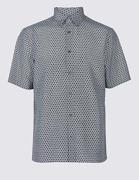 Geometric Print Shirt