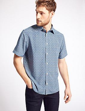 Square Design Printed Shirt