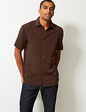 8986d2708780 Polyester Regular Fit Shirts | M&S