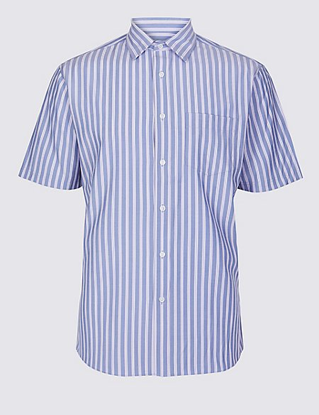Modal Blend Striped Shirt