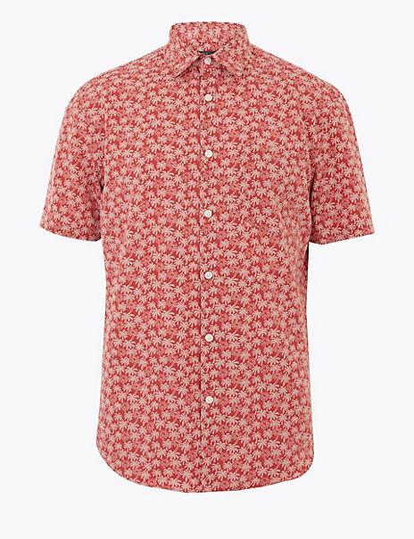 Palm Print Soft Touch Shirt