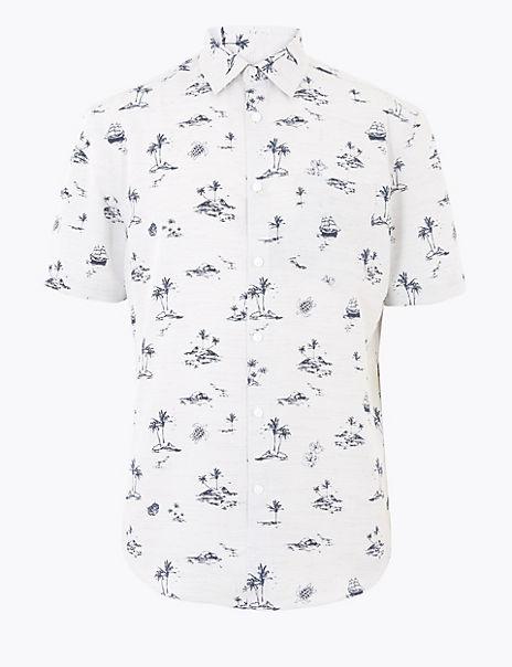 Printed Easy Iron Shirt