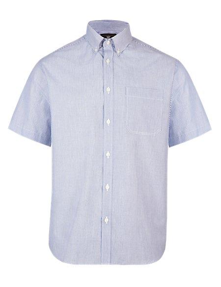 2in Longer Easy Care Striped Shirt