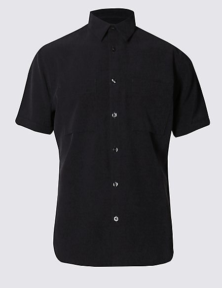 Easy Care Tailored Fit Shirt with Pockets