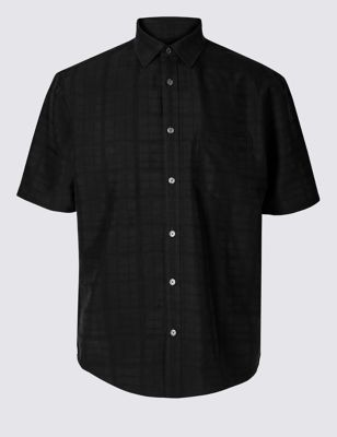 Modal Rich Textured Shirt With Pocket by Marks & Spencer