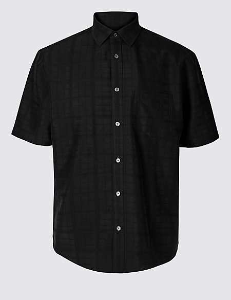 Modal Rich Textured Shirt with Pocket