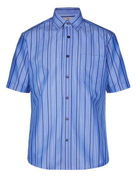 Easy Care Soft Touch Dobby Striped Shirt with Modal