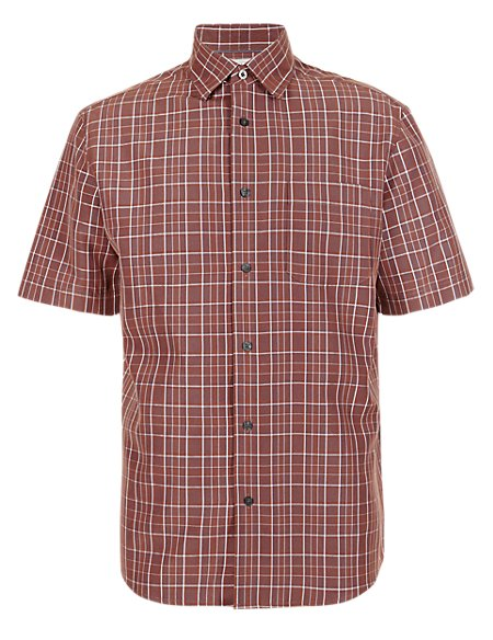 Modal Blend Easy Care Checked Shirt